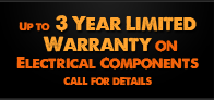 up to 3 year limited warranty on electrical components