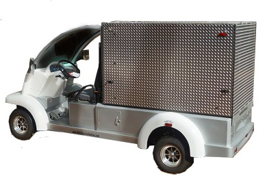 MotoEV Electro Bubble Buddy LSV 2 Passenger Enclosed Utility Deluxe