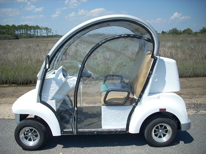 CitEcar Electro Bubble Buddy LSV 2 Passenger White Side