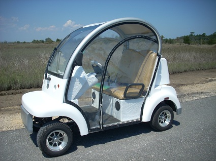 CitEcar Electro Bubble Buddy LSV 2 Passenger White Front Left