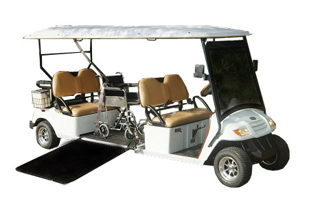 CitEcar Electro Neighborhood Buddy 4 Passenger Wheelchair Street Legal Golf Cart
